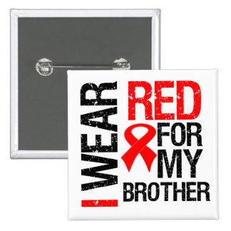 Llevo la cinta roja para mi Brother Pin Cuadrado