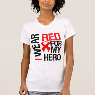Llevo la cinta roja para mi héroe playera