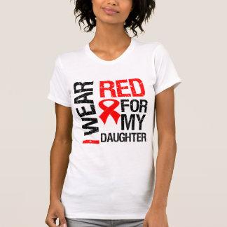 Llevo la cinta roja para mi hija camisetas
