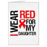 Llevo la cinta roja para mi hija tarjeton
