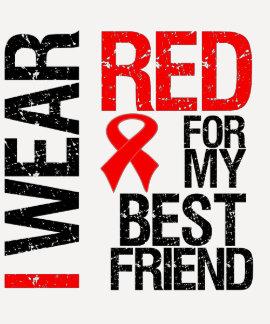 Llevo la cinta roja para mi mejor amigo camiseta