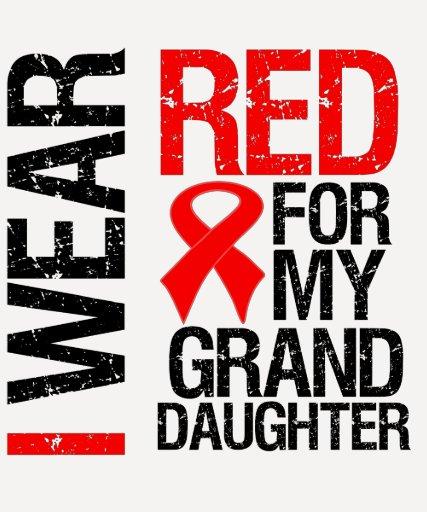 Llevo la cinta roja para mi nieta camisetas