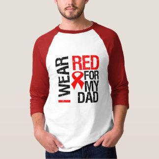Llevo la cinta roja para mi papá playera