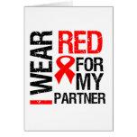 Llevo la cinta roja para mi socio felicitación