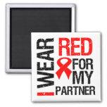Llevo la cinta roja para mi socio iman para frigorífico