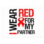 Llevo la cinta roja para mi socio tarjeta postal