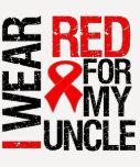 Llevo la cinta roja para mi tío camisetas