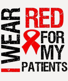 Llevo la cinta roja para mis pacientes camiseta