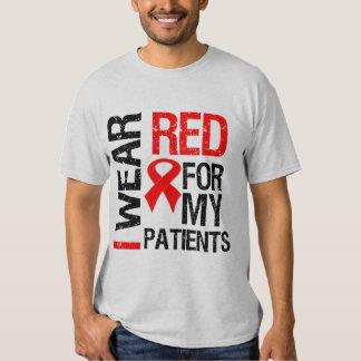 Llevo la cinta roja para mis pacientes playera