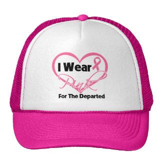 Llevo la cinta rosada del corazón salí cáncer de p gorro de camionero