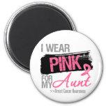 Llevo la cinta rosada para mi cáncer de la tía pec imán