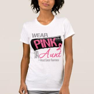 Llevo la cinta rosada para mi cáncer de la tía playera