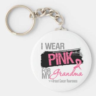 Llevo la cinta rosada para mi cáncer de pecho de llavero redondo tipo pin