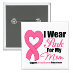 Llevo la cinta rosada para mi mamá pin