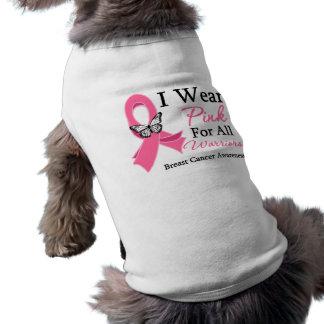 Llevo la cinta rosada para todo el cáncer de pecho ropa de mascota
