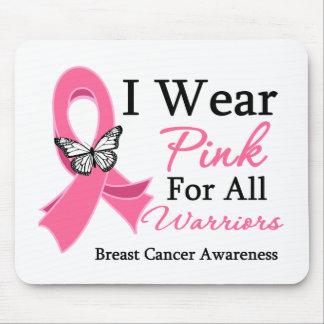 Llevo la cinta rosada para todo el cáncer de pecho tapete de ratón