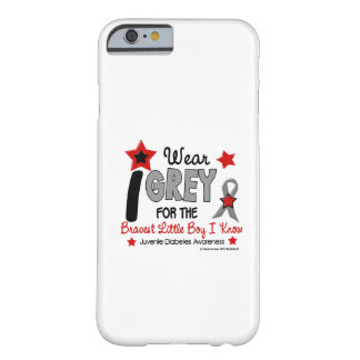 Llevo la diabetes más valiente de Little Boy Juv Funda De iPhone 6 Barely There