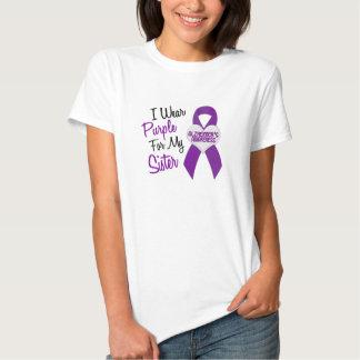 Llevo la enfermedad de Alzheimer púrpura de la Poleras