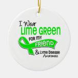Llevo la enfermedad de Lyme del amigo de la verde  Adornos