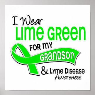 Llevo la enfermedad de Lyme del nieto de la verde  Posters
