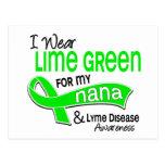 Llevo la enfermedad de Nana Lyme de la verde lima Postal