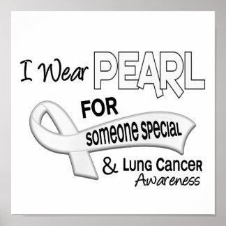 Llevo la perla alguien cáncer de pulmón especial 4 posters