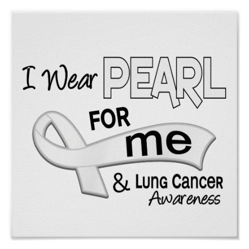 Llevo la perla para mí cáncer de pulmón 42 posters