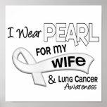 Llevo la perla para mi cáncer de pulmón de la espo poster