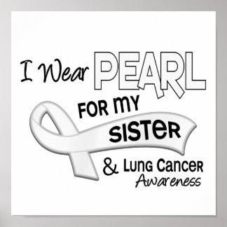 Llevo la perla para mi cáncer de pulmón de la herm impresiones