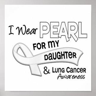 Llevo la perla para mi cáncer de pulmón de la hija poster