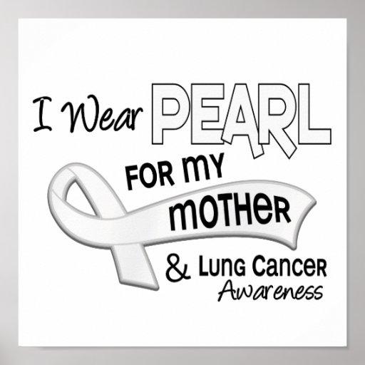 Llevo la perla para mi cáncer de pulmón de la madr poster