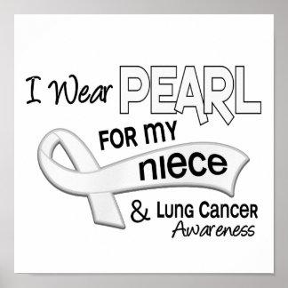 Llevo la perla para mi cáncer de pulmón de la sobr poster