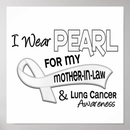 Llevo la perla para mi cáncer de pulmón de la sueg poster