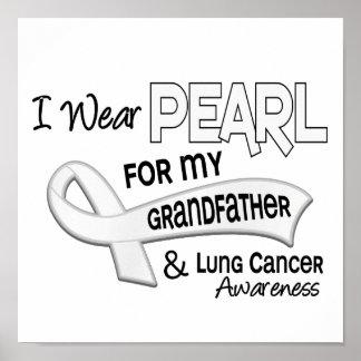 Llevo la perla para mi cáncer de pulmón del abuelo poster