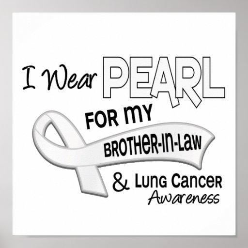 Llevo la perla para mi cáncer de pulmón del cuñado impresiones