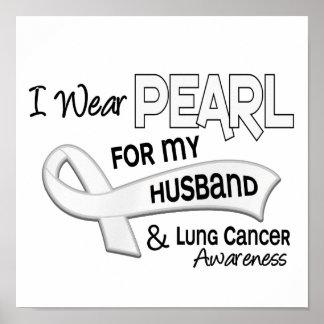 Llevo la perla para mi cáncer de pulmón del marido impresiones