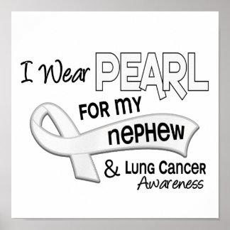 Llevo la perla para mi cáncer de pulmón del sobrin impresiones