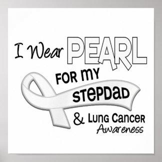 Llevo la perla para mi cáncer de pulmón del Stepda Posters