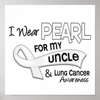 Llevo la perla para mi cáncer del tío 42 pulmón impresiones