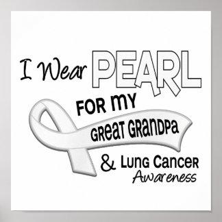 Llevo la perla para mi gran cáncer de pulmón del a poster