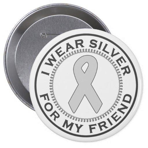 Llevo la plata para mi amigo pin redondo de 4 pulgadas