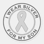 Llevo la plata para mi hijo etiquetas redondas