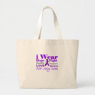 Llevo la púrpura (epilepsia) para mis productos de bolsas