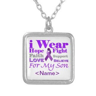 Llevo la púrpura (epilepsia) para mis productos de colgante personalizado