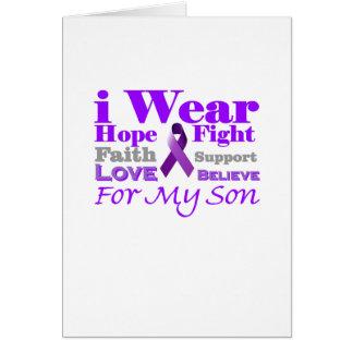Llevo la púrpura (epilepsia) para mis productos de tarjeta de felicitación