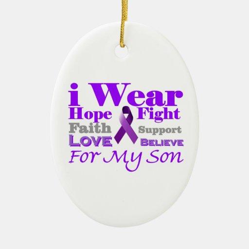 Llevo la púrpura (epilepsia) para mis productos adorno ovalado de cerámica