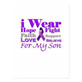 Llevo la púrpura (epilepsia) para mis productos postales