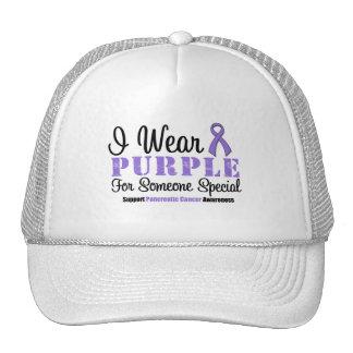 Llevo la púrpura para alguien especial gorro