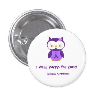 Llevo la púrpura para el Pin de Zoey