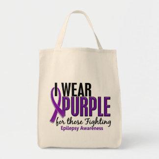Llevo la púrpura para ésos la epilepsia que lucha  bolsas